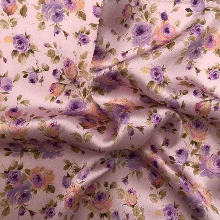 Lenço de Bolso Violet Roses