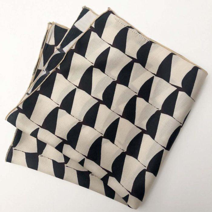 Pocket Square B&W Geometry